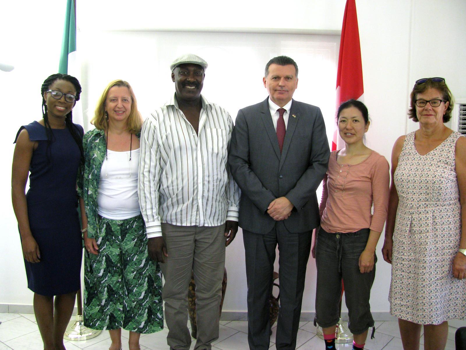 Empfang auf Schweizer Botschaft in Abuja